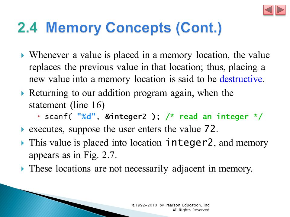 2.4 Memory Concepts (Cont.)