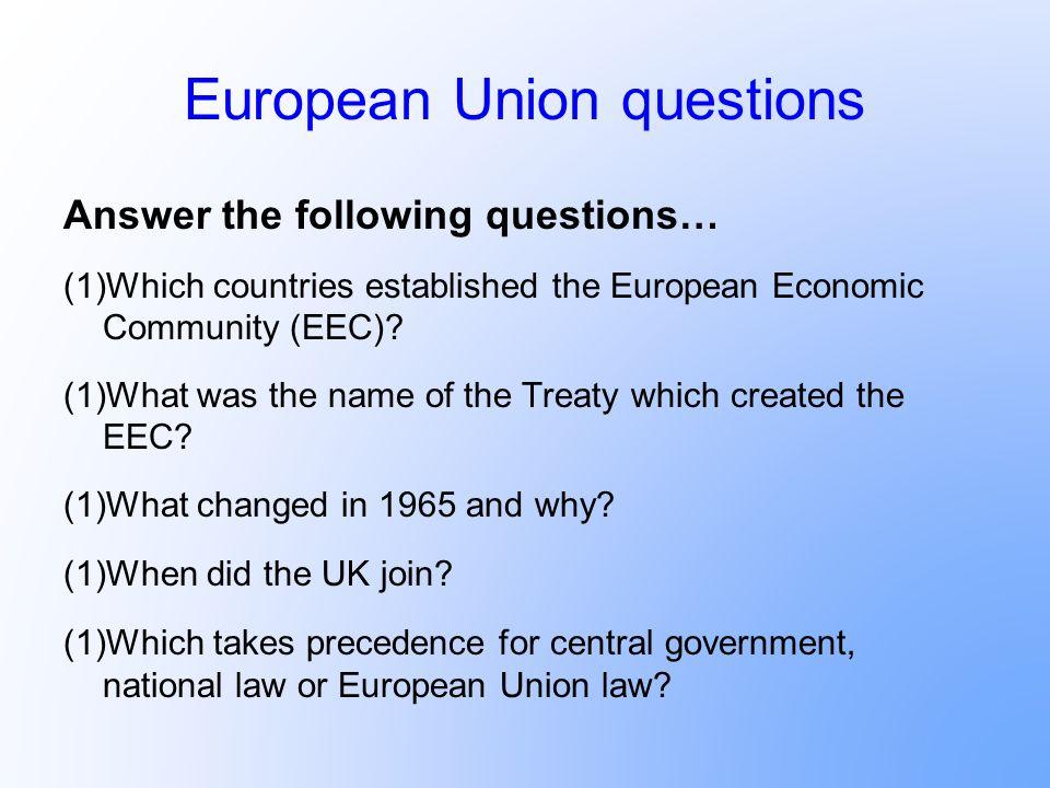 European Union questions