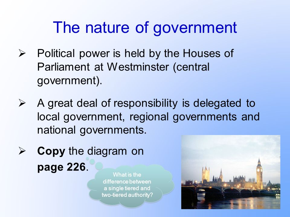 The nature of government