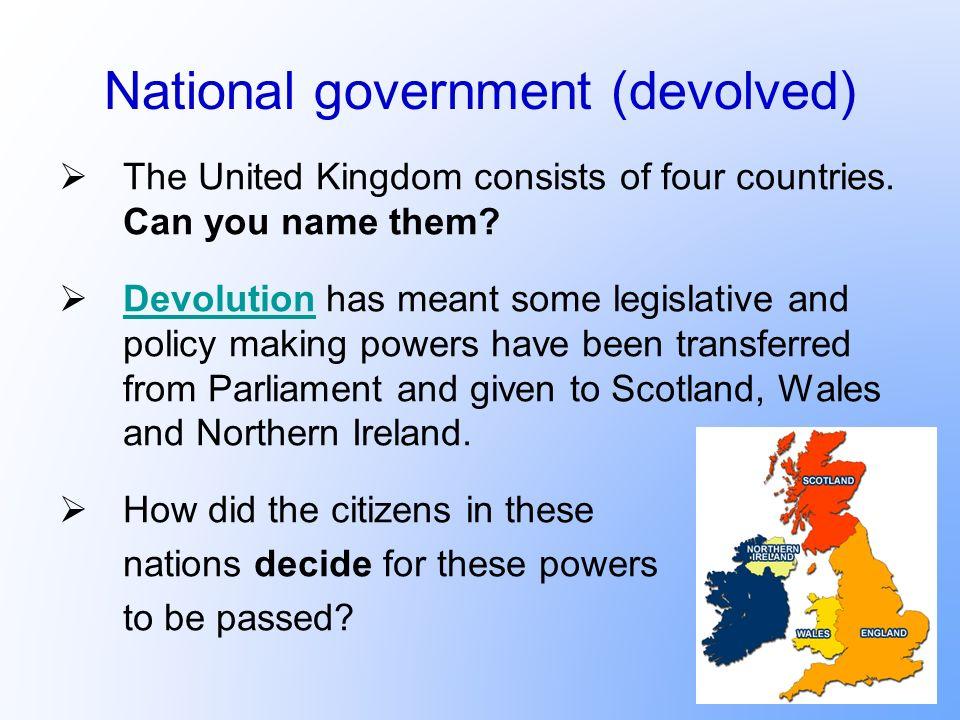 National government (devolved)