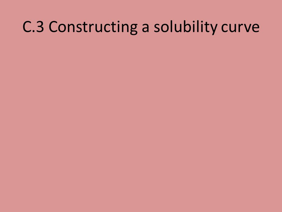 C.3 Constructing a solubility curve