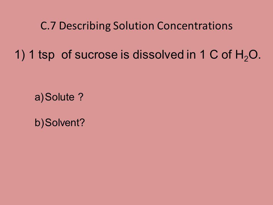 C.7 Describing Solution Concentrations