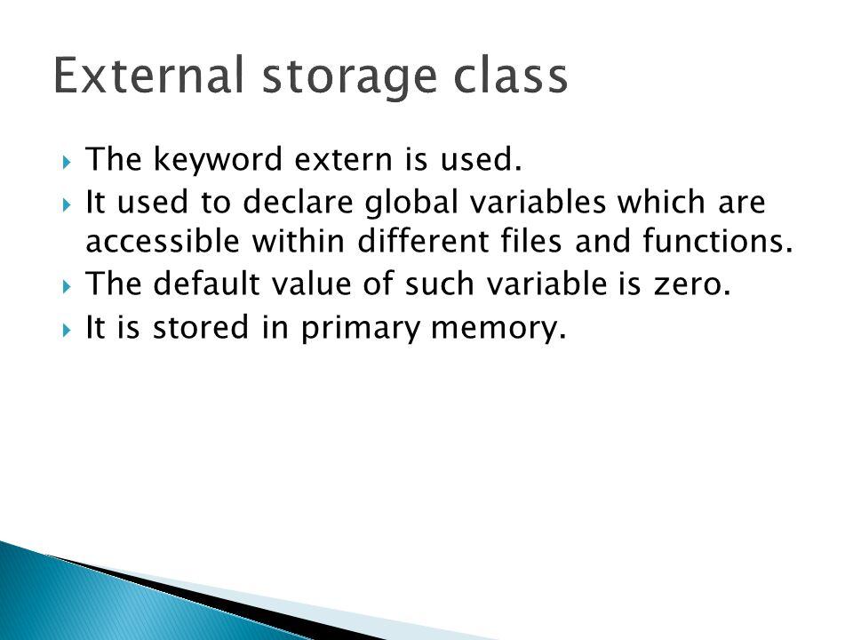 External storage class