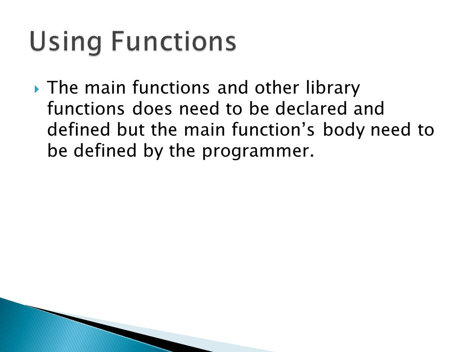 Using Functions