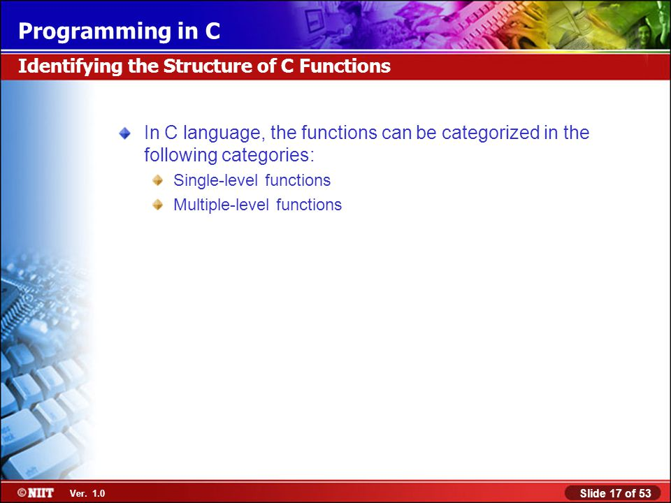 Identifying the Structure of C Functions