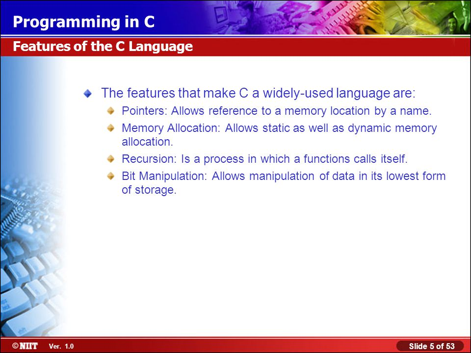 Features of the C Language