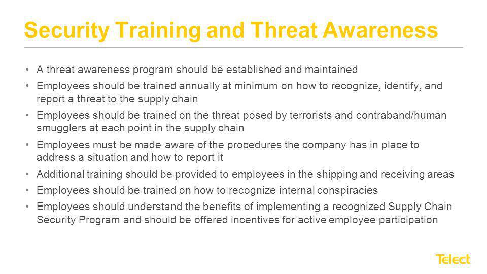 Security Training and Threat Awareness