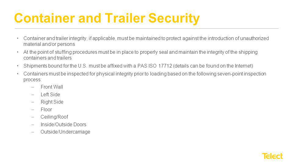 Container and Trailer Security