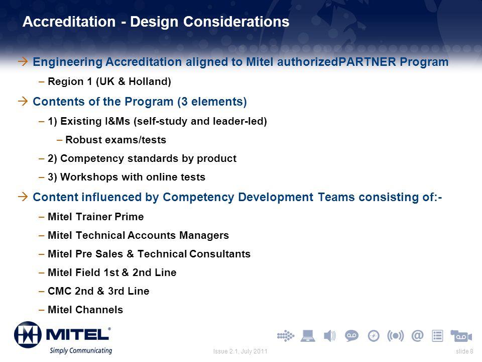 Accreditation - Design Considerations