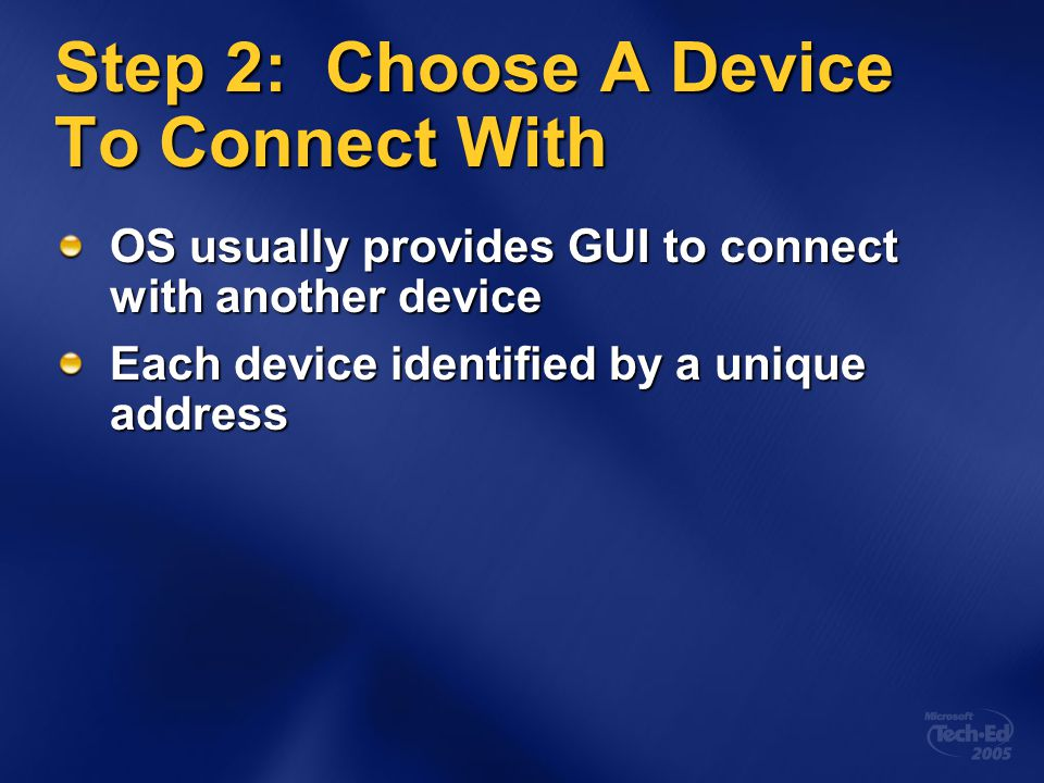 Step 2: Choose A Device To Connect With