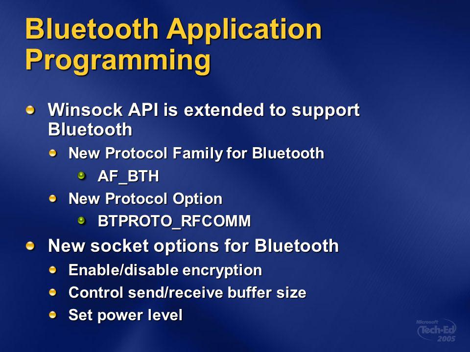 Bluetooth Application Programming