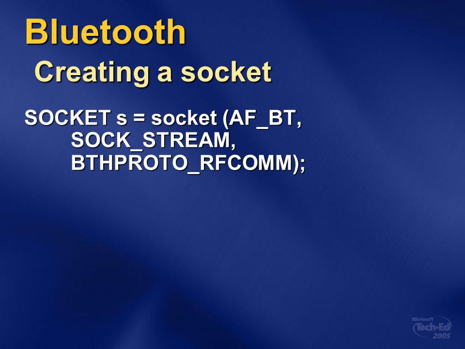 Bluetooth Creating a socket