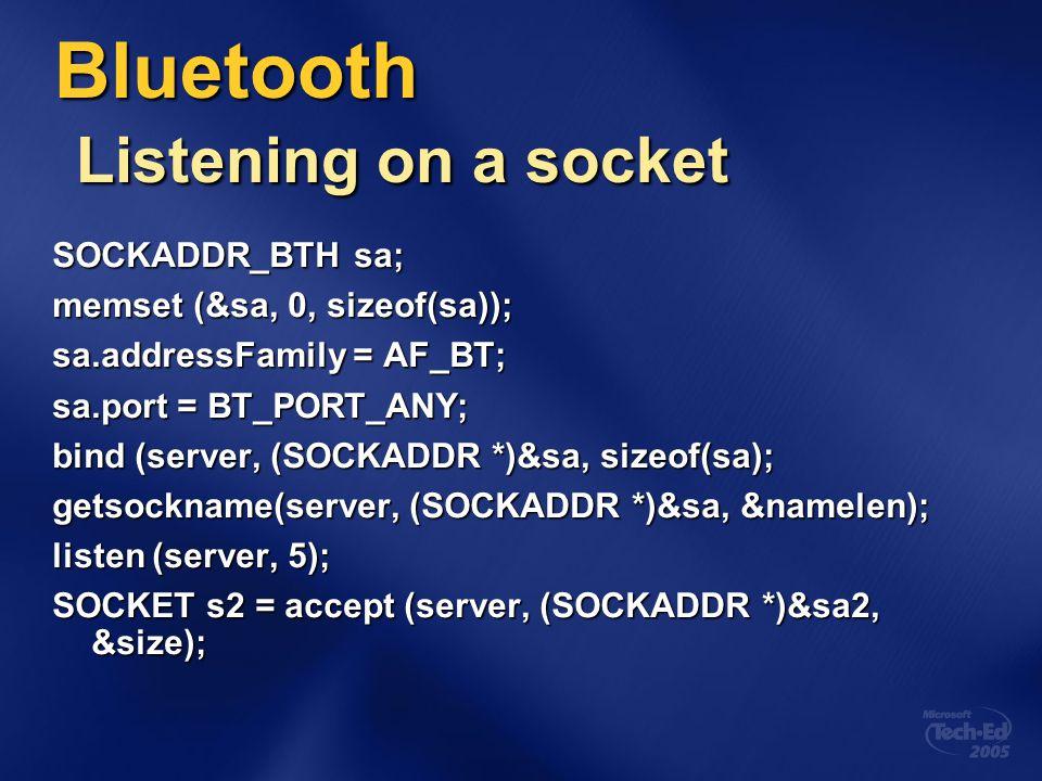 Bluetooth Listening on a socket