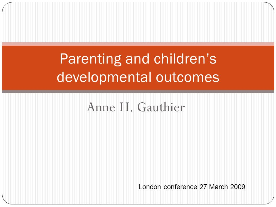 Parenting and children's developmental outcomes