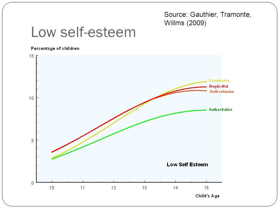 Low self-esteem Source: Gauthier, Tramonte, Willms (2009)