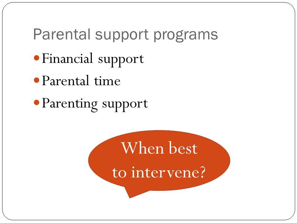 Parental support programs