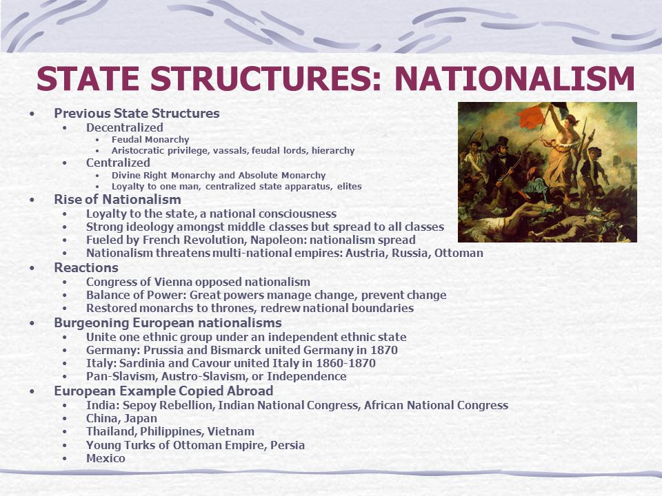 STATE STRUCTURES: NATIONALISM