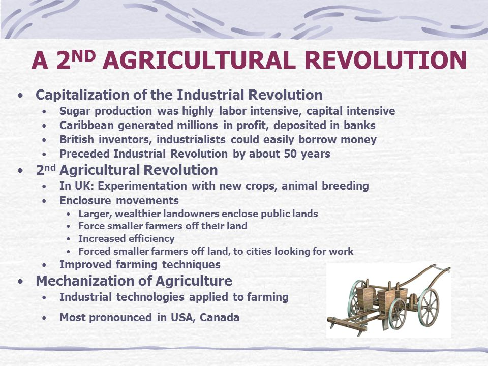 A 2ND AGRICULTURAL REVOLUTION