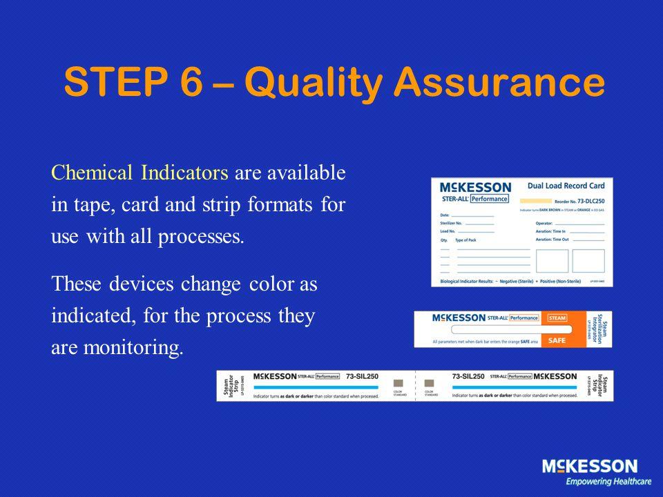 STEP 6 – Quality Assurance