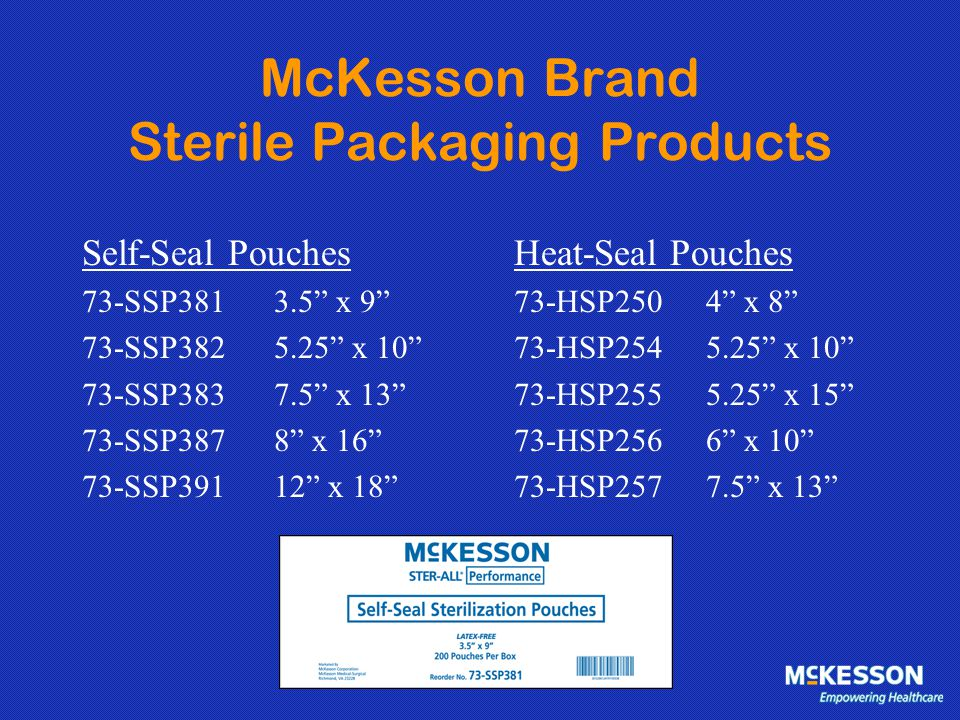 McKesson Brand Sterile Packaging Products