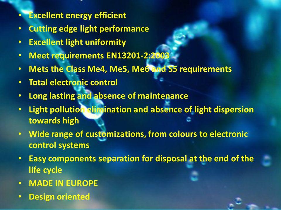 Excellent energy efficient