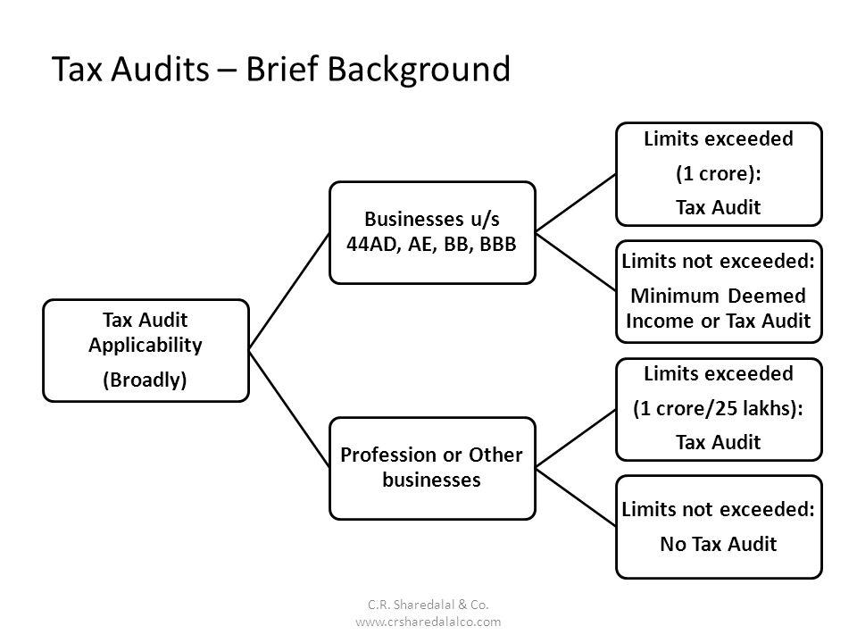 Tax Audits – Brief Background