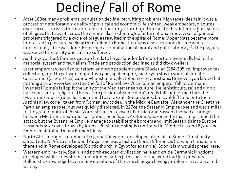 Decline/ Fall of Rome