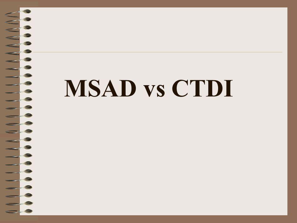 MSAD vs CTDI