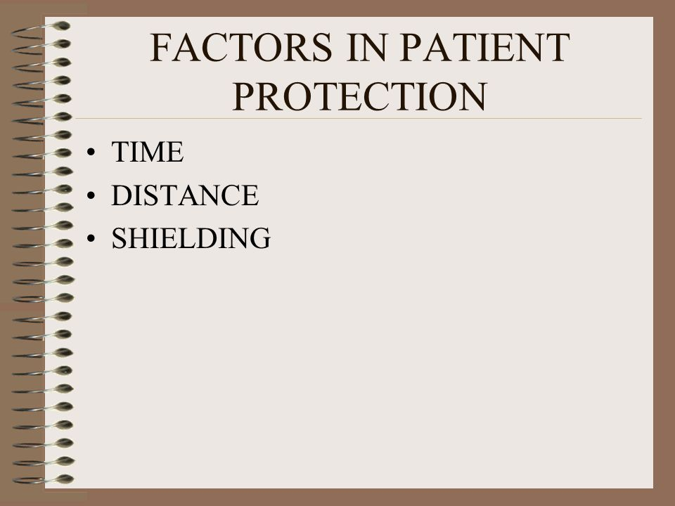 FACTORS IN PATIENT PROTECTION