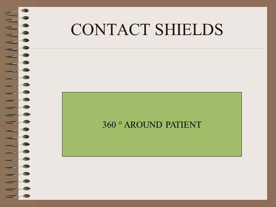CONTACT SHIELDS 360 ° AROUND PATIENT