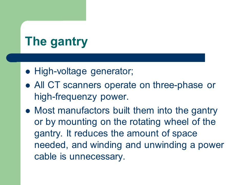 The gantry High-voltage generator;