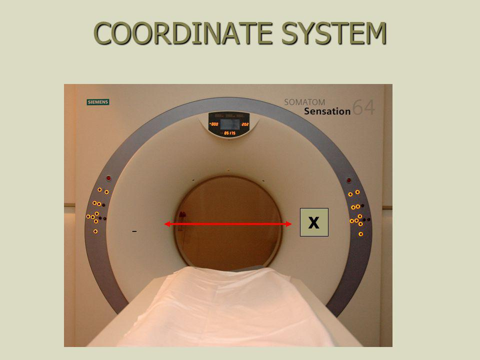 COORDINATE SYSTEM X