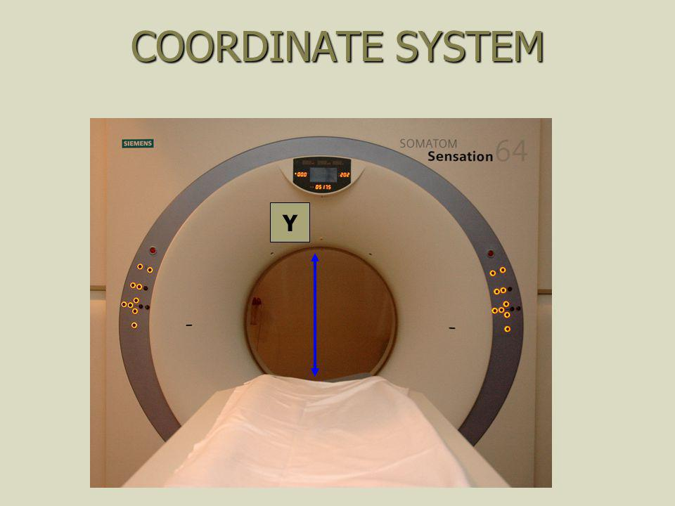COORDINATE SYSTEM Y