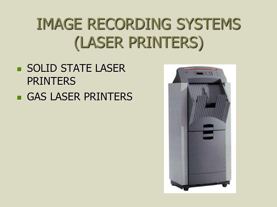 IMAGE RECORDING SYSTEMS (LASER PRINTERS)