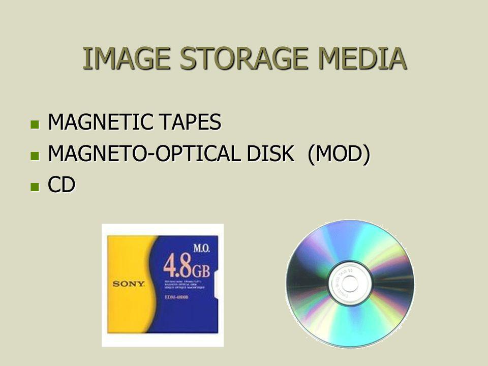 IMAGE STORAGE MEDIA MAGNETIC TAPES MAGNETO-OPTICAL DISK (MOD) CD