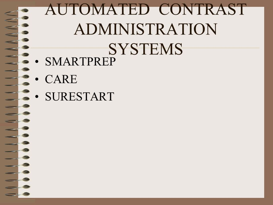 AUTOMATED CONTRAST ADMINISTRATION SYSTEMS