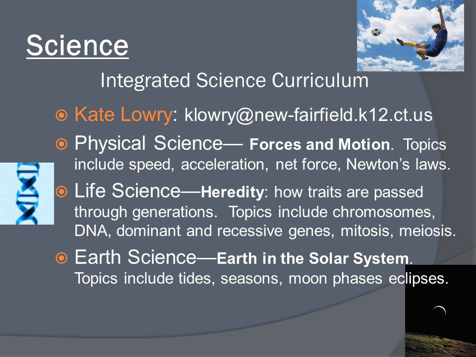 Integrated Science Curriculum