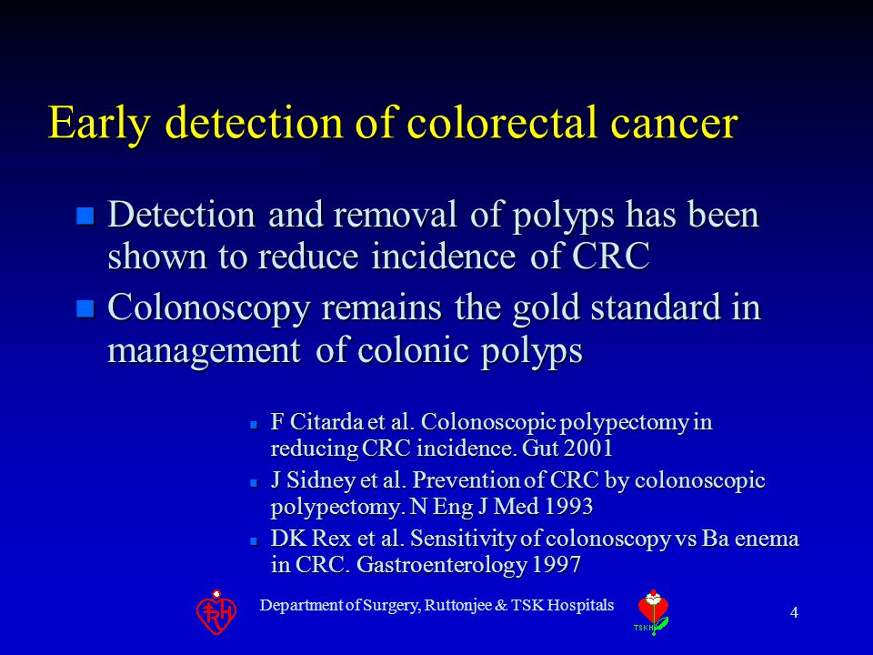 Early detection of colorectal cancer
