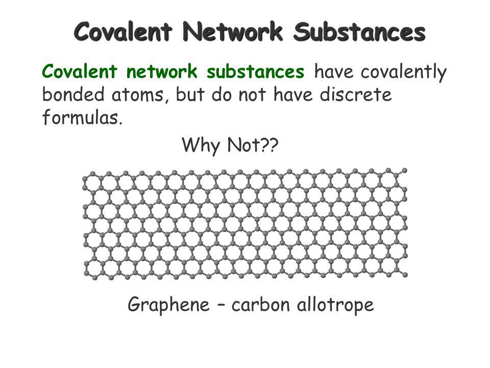 Covalent Network Substances