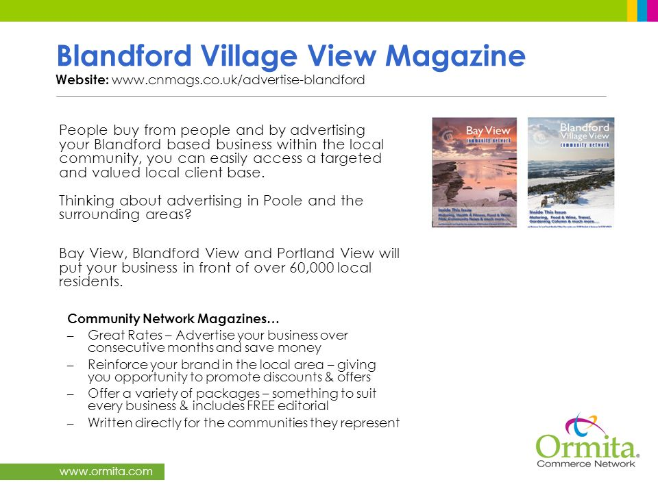 Blandford Village View Magazine Website: www. cnmags. co