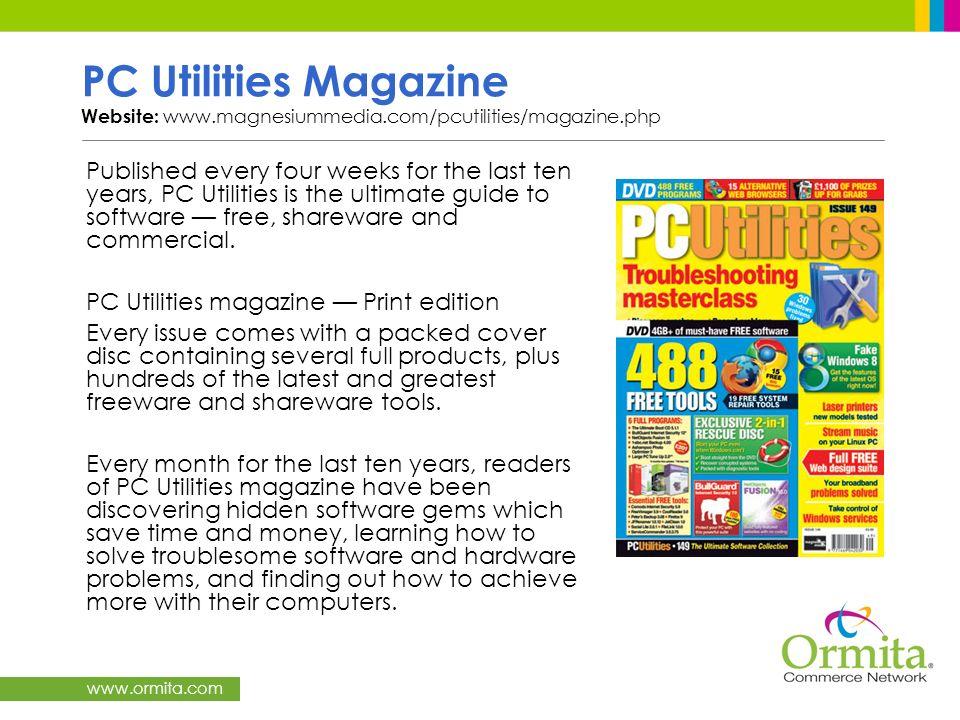 PC Utilities Magazine Website: www. magnesiummedia