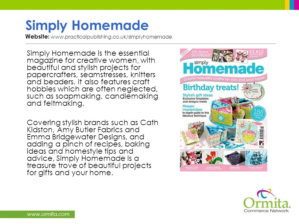 Simply Homemade Website: www.practicalpublishing.co.uk/simplyhomemade