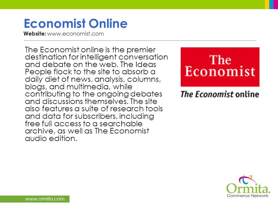Economist Online Website: www.economist.com