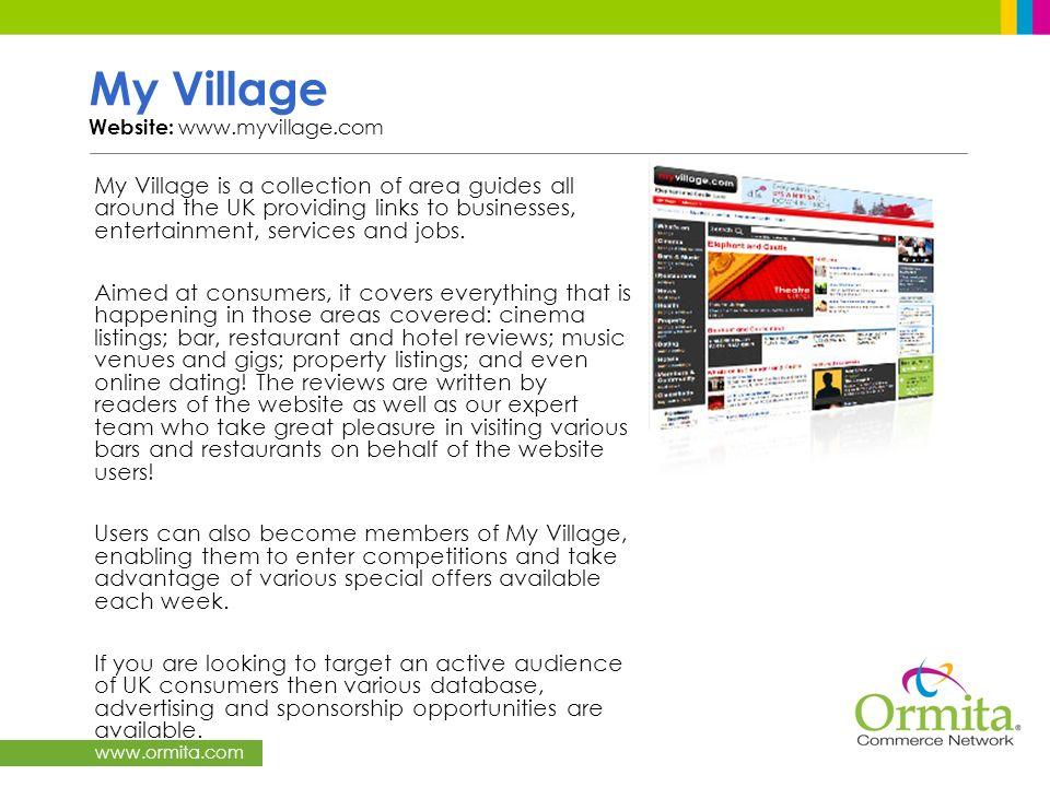 My Village Website: www.myvillage.com