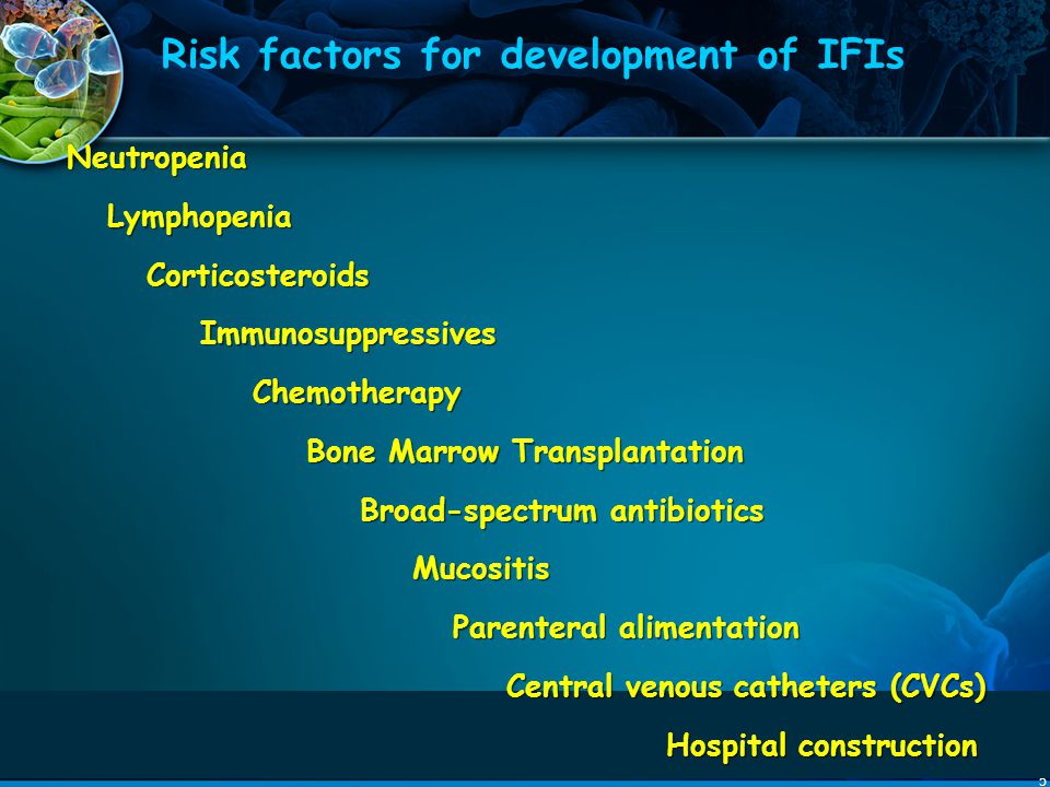 Risk factors for development of IFIs