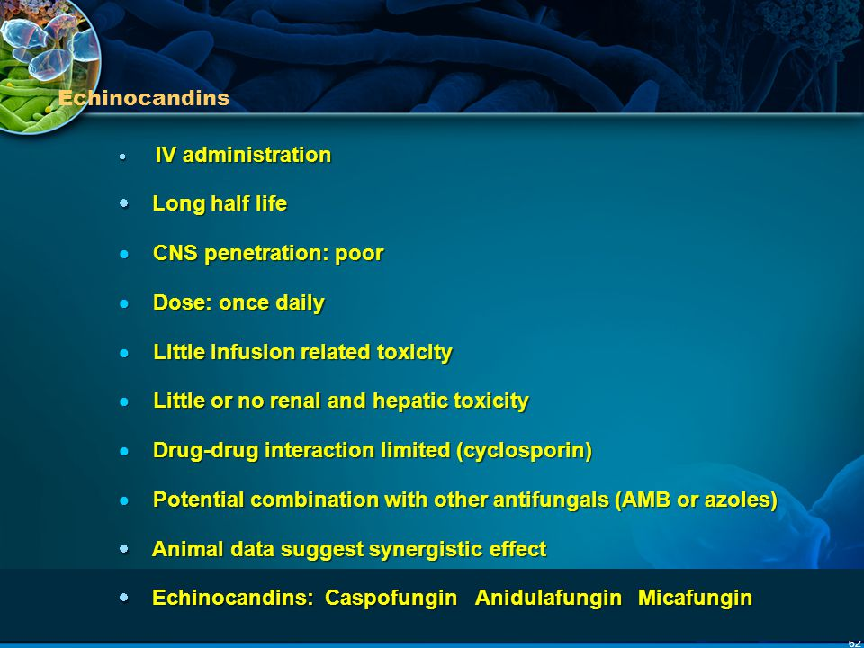  CNS penetration: poor  Dose: once daily