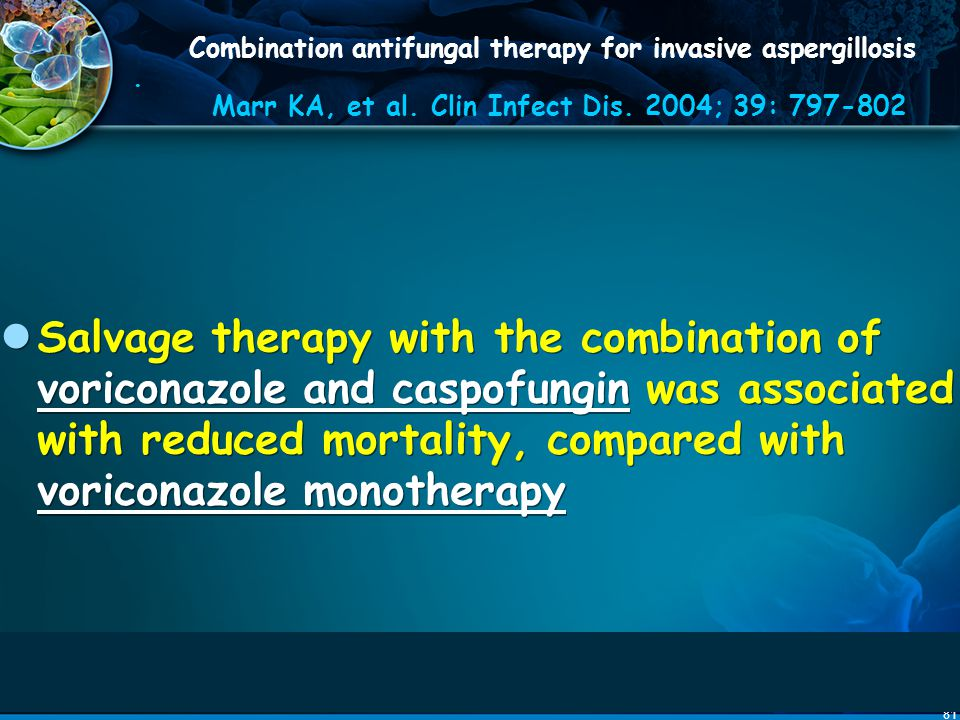 Combination antifungal therapy for invasive aspergillosis