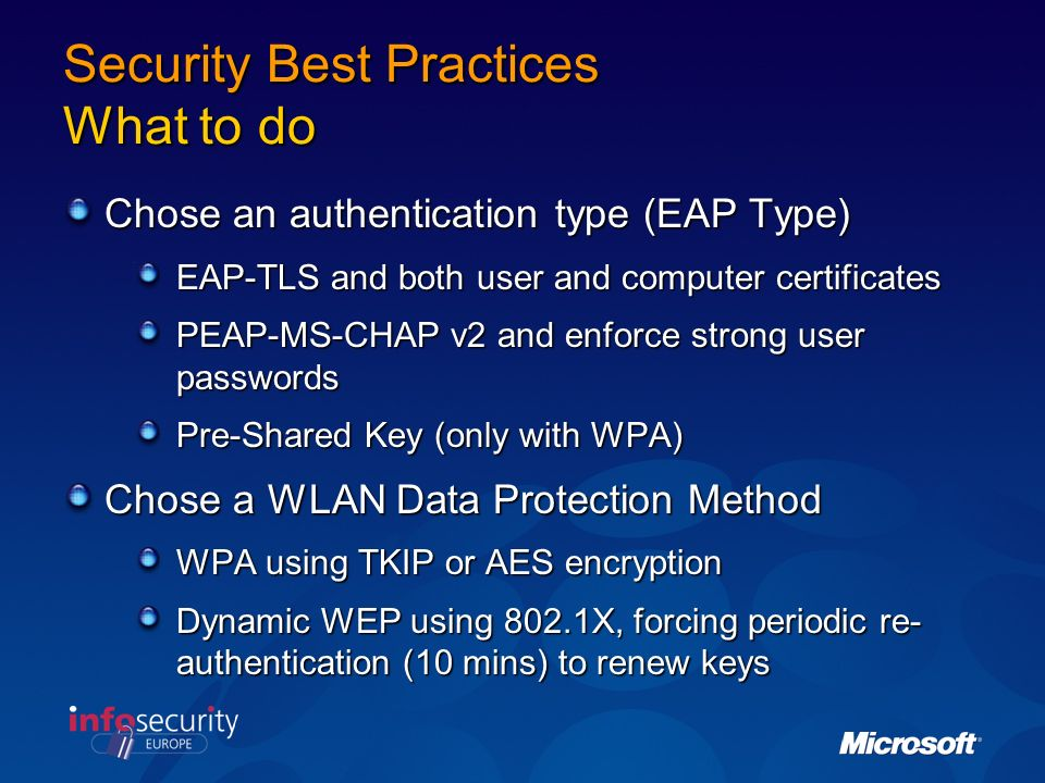 Security Best Practices What to do