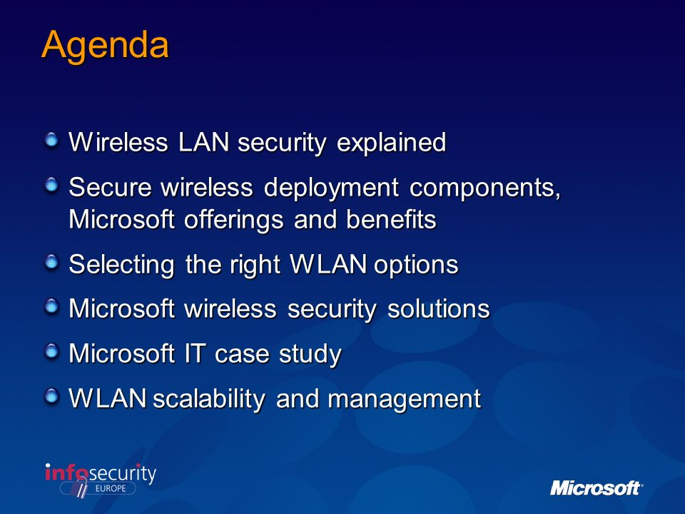 Agenda Wireless LAN security explained