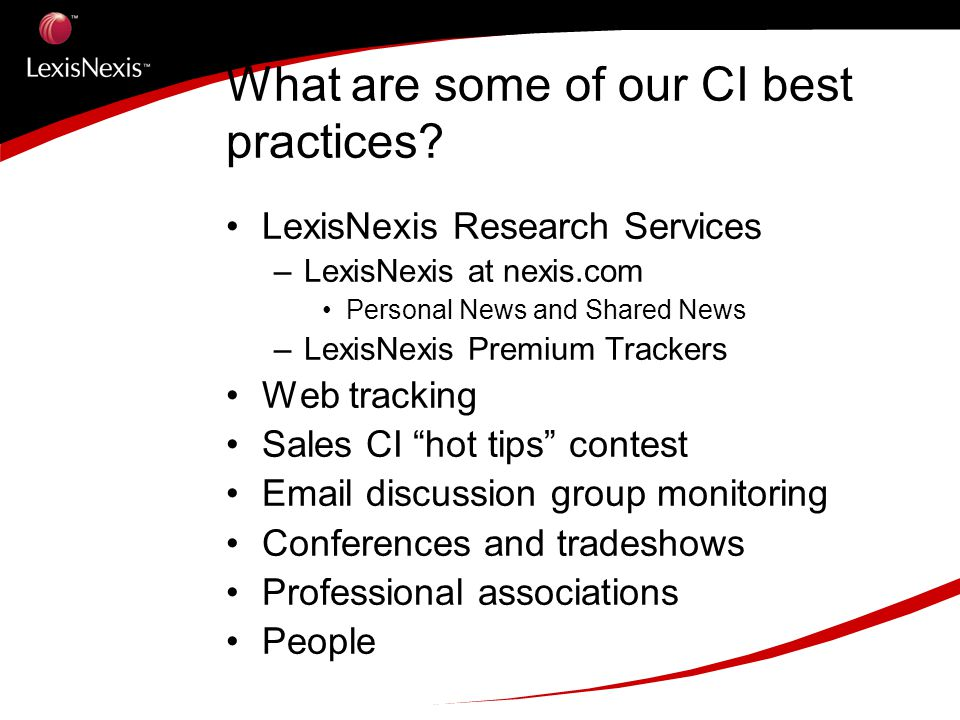 What are some of our CI best practices